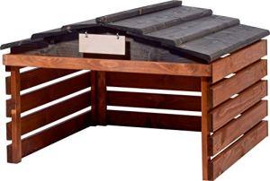 dobar Garage de Tondeuse avec Toit Amovible pour Voiture 78,5 x 74 x 52,5 cm Marron/Noir