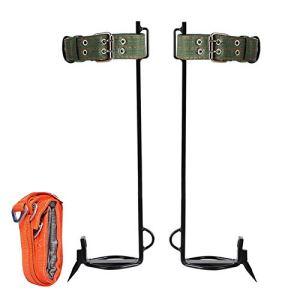 Équipement de grimpe d'arbre, ceinture de sécurité, corde longe réglable, ceinture de sauvetage Dispositif montée Charge: 100 (kg) Facile à transporter et simple à utiliser Conception à cinq griffes