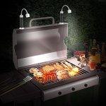 FIREOR lampe pour barbecue grill magnétique réglable 360° résistante aux intempéries accessoire pour barbecue (lot de 2, noires)