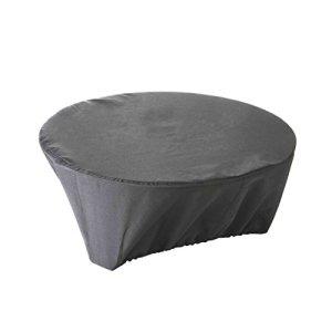 GREEN CLUB Housse de Protection imperméable pour brasero Haute Qualité Polyester doublée PVC D 60 x h 30 cm Couleur Anthracite