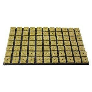 GRODAN Tray 77anzucht médias de laine de roche par bloc 4cm x 4cm en coque en plastique 53cm x 32cm avec greenception wuchs Engrais 100g 18x