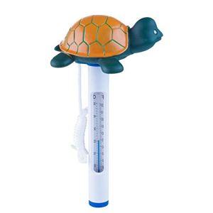 Heoolstranger Turtle Thermomètre de piscine avec corde Thermomètre de température de l'eau Style dessin animé Pour intérieur/extérieur
