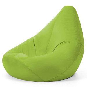 Hi-BagZ® Pouf fauteuil d'extérieur géant haute arrière – poufs de jardin Citron vert – 100% résistant à l'eau