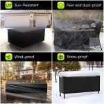 Hongtellor Housse de Protection pour Table de Jardin rectangulaire en Tissu Oxford 420D imperméable et Coupe-Vent 180 x 120 x 74cm