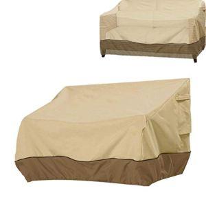 Housse de canapé de jardin avec cordon de serrage imperméable à l'eau et à la poussière pour banc de salon Love Seat 2 places 3 places Extérieur 193 x 83 x 84 cm