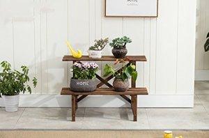 Hyzb Fleur Stand intérieur Balcon Salon étage étage Multi-Couche Fleur Pot étagère (Size : 2 layer-80cm)