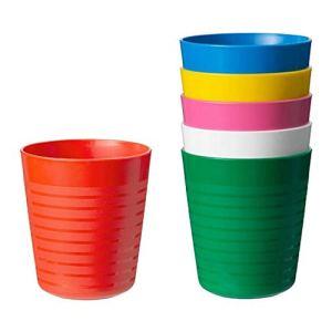 Ikea Lot de 2 tasses pour enfant 6 pièces assorties