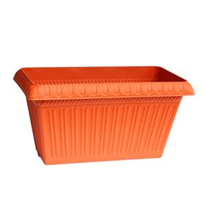 Indoor Gardening Flower Pots -CDingQ Pots de plantation rectangulaires, légumes fruits fruits pot de balcon balcon Pots de Fleurs en plastique quatre couleurs facultatif solide durable Potted Flower P