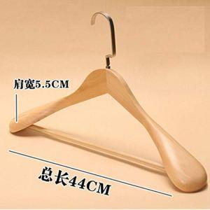 JWGD Cintre en bois massif pour vêtements de ménage Couleur : bois 44 cm