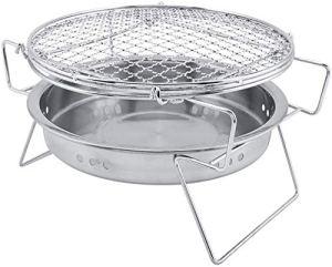 KAIXIN BBQ Grill Mini cuisinière portative Pliable en Acier Inoxydable pour Barbecue extérieur