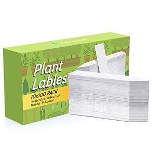 Kensizer Étiquettes de Jardin en Plastique pour Plantes de Jardin Blanc 10 cm 1000 Pcs