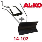 Lame à Neige 118 cm Noire + adaptateur pour AL-KO 14-102