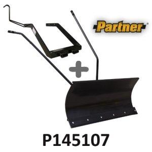 Lame à Neige 118 cm Noire + adaptateur pour Partner P145107