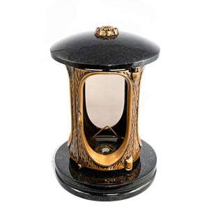 Lanterne funéraire Afterglow Elégant Granit Hauteur 23 cm Ø 15 cm classique 23 cm Noir suédois
