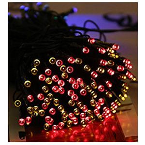 Lumiere Solaire Exterieur Led Lampe Solaire Extérieure Leds Guirlande Lumineuse Fée Vacances Fête De Noël Guirlande Solaire Jardin Lumières Imperméables-Couleur Mulit_1_22M 200Leds