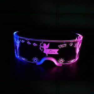 LUOWAN Lunettes lumineuses à LED pour fête de Noël, bar, festival de musique, fête dansante, lunettes de Noël (entièrement contrôlable)