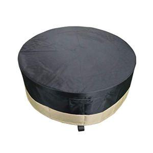 Onlyfire Housses de Braséro 112cm Ronde pour Foyer Complet – Revêtement en Tissu résistant et résistant à l'eau, Noir, 44″D x 18″ H