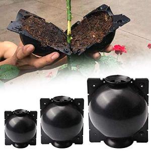 O'woda 3 Pièces Contenants pour Plantes (5cm, 8cm, 12cm), Plante Enracinement Dispositif, High-Pressure Grafting, Boîte d'enracinement des Plante pour Jardin Croissance Elevage Greffe