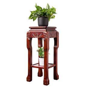 Plante Shelf 2 Tier Bois Usine Stand End Table avec Support étagère Fleur Plante en Pot Soutien Jardinière Jardin et Maison (Color, Size : 40x40x80cm)