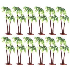 PRETYZOOM Lot de 36 mini cocotier imitation arbre de coco pour décoration d'aquarium ou paysage de bâtiment