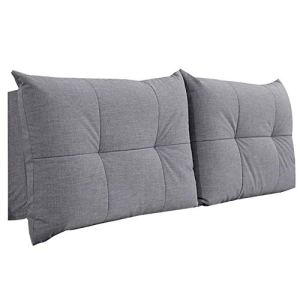 QIANCHENG-Cushion Tête De Lit Coussin Dossier Stéréoscopique Fermeture Éclair Détachable Chambre à Coucher Lin Étui Souple, 5 Couleurs, 9 Tailles (Color : #2, Size : 90CM)