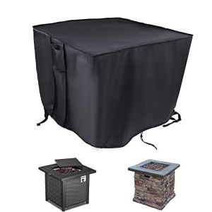 Shansis Bâche de foyer à gaz carrée – 76 x 76 x 61 cm étanche et anti-UV pour table de cheminée de terrasse