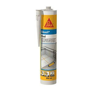 Sikasil Pool, Mastic silicone spécial joint pour piscine, 300ml, Gris