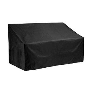 Silvotek Housse de Protection Banc 3 Places – Imperméable Housse de Banc de Jardin avec matériau Oxford 210D Durable + Revêtement de PVC supplémentaire,Housse pour Banc Exterieur – 162x66x89cm