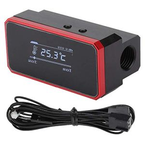 sjlerst Protecteur Intelligent de température de l'eau, thermomètre d'affichage Protecteur Intelligent de température de l'eau Trois Modes de contrôle réglables(Red)