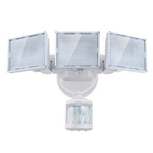 SOLLA Projecteur LED 40W avec détecteur de mouvement, 3000 lm 5000 K lumière de sécurité LED, Projecteur LED d'Angle Réglable, Utile pour Coin, IP65 étanche pour garage