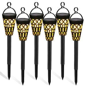 Tencoz Lampes Solaires de Jardin, 6 Pièces Lumières Solaires Extérieures Étanche à LED Éclairage Solaire Décoration Suspendues pour Chemin Terrasse Pelouse (6 Pack)