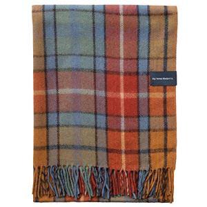 The Tartan Blanket Co.Couverture en Laine recyclée – Style Tartan écossais Buchanan Antique