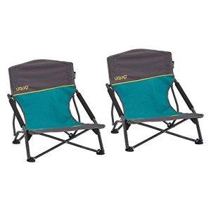 Uquip Sandy Lot de 2 Chaises de Plage Pliantes – Capacité de Charge 120 Kg
