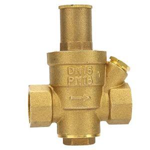 Vanne de régulation de pression, 1 pc en laiton réglable réducteur de pression d'eau de vanne de régulation filetage DN15 1/2″