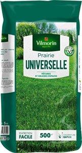 VILMORIN – Prairie Universelle – Pour pâtures et grands espaces – Idéale pour les animaux – Robuste – Entretien facile – Couverture rapide – 5 Kg = 500 m² de Prairie