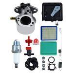 Weiqu 799868 Carburateur avec amorce de nettoyage à air 795259 699056 790849 Kit de fixation à ressort pour moteur de tondeuse 498170 497586 pour désherbage de jardin