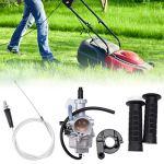 Weiqu Carburateur pour Honde XR 100 XR 100R XR100R XR100 CRF100F XR200 XR200R XL125S XL100S CB125S avec poignée de guidon pour désherbage de jardin