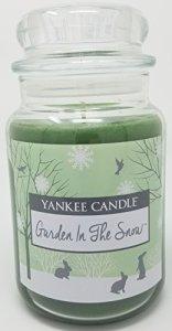 Yankee Candle Garden dans la neige Grande bougie en pot