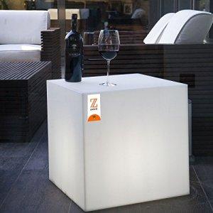 Zanvic Lampe/Table/Pouf dan-i Lamp 50, Blanc, 50x 50x 50cm, za62