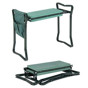 ZJY Chaise de Jardin Pliante à Genoux, Coussin en Mousse, Double Usage pour s'asseoir et s'agenouiller, Solide et léger, Convient au Jardinage et aux travaux ménagers