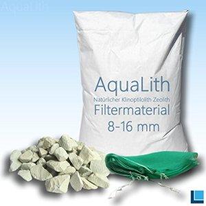 25 kg matériau filtrant zéolite 8-16 mm incl. Filtre sac en filet pour les étangs