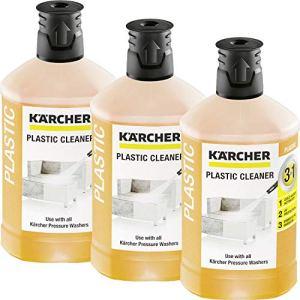 3x Kärcher RM 613 Nettoyant plastique 3 en 1 détergent pour nettoyeurs haute pression (1000ml)