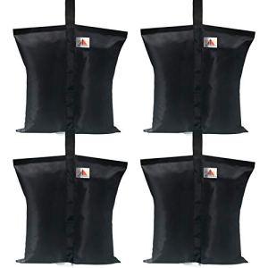 ABCCANOPY Lot de 4 sacs de poids de qualité industrielle pour tonnelle pliante Noir