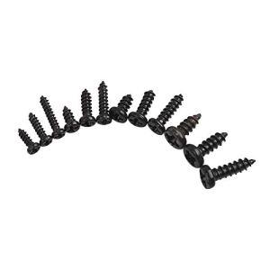 Acier Inoxydable 1200pcs m1 m1.2 m1.4 m1.7 Micro Lunettes vis vis à tête Ronde Tapis de Petit kit de vis en Bois électronique Précision (Color : Black Carbon Steel)