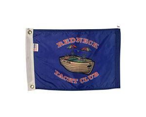 AEMAPE Drapeau de Bateau 3X5 Redneck Yacht Club Nylon Durable Tout Temps et Couture d'extrémité de Mouche renforcée Fabriqué aux États-Unis