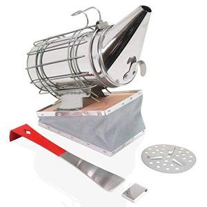 Aestic Enfumoir 30 cm en acier inoxydable avec bouclier thermique et lève-cadres