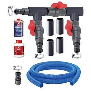 AquaForte Bypass Basi Kit Pompe à Chaleur Noir