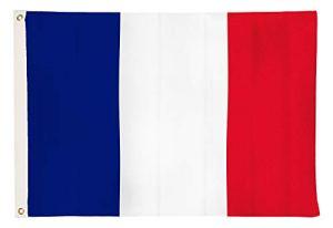 aricona Drapeaux de Drapeau National de la France – Flags résistants aux intempéries avec Oeillets en Laiton 90 x 150 cm