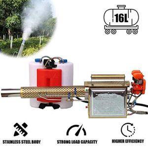 BLLJQ 16L Pulvérisateur électrique ULV, Machine de Désinfection Haute Pression Agricole pour Jardin, pour l'hygiène Industrielle des Bureaux Publics Intérieurs et Extérieurs,Golden Reinforced