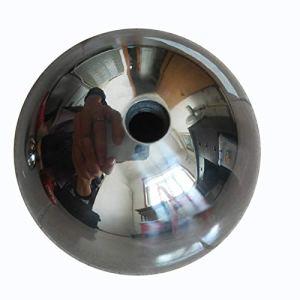 Boule d'observation 100pcs Décoratifs en Acier Inoxydable Boule, Miroir Boule Creuse en Acier Inoxydable Sphère Brillant Jardin Ornement (Color : Silver, Size : 4.6in)